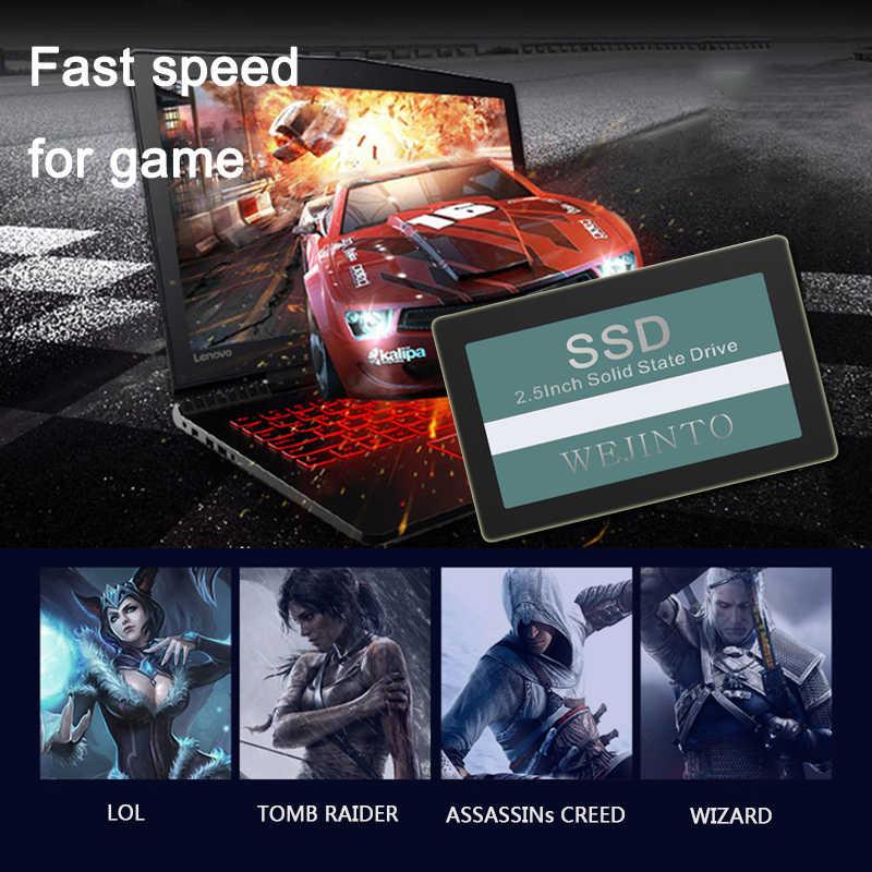 WEIJINTO 2.5 SATA2 SATA3 SSD 16GB 32GB 60GB 120GB 240GB 128GB 256GB 512GB 480GB 960GB 360GBภายในSolid State Hard Drive
