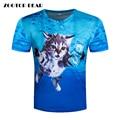 Camiseta 3d impresso top tee homens cat t-shirt de manga curta funny money cat camisetas casual novidade streetwear marca top zootop urso