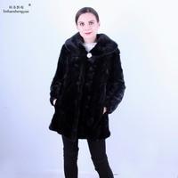 Linhaoshengyue fashion women mink fur coat