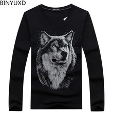 Hot sale Plus Size s-5XL Leisure autumn and winter cotton long sleeved male T-Shirt fashion