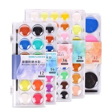 CHENYU 12/16/28/36 Solid Watercolor Paint Set With Water Brush Pen Painting Pigment Art Supplies For Draw Dropshipping