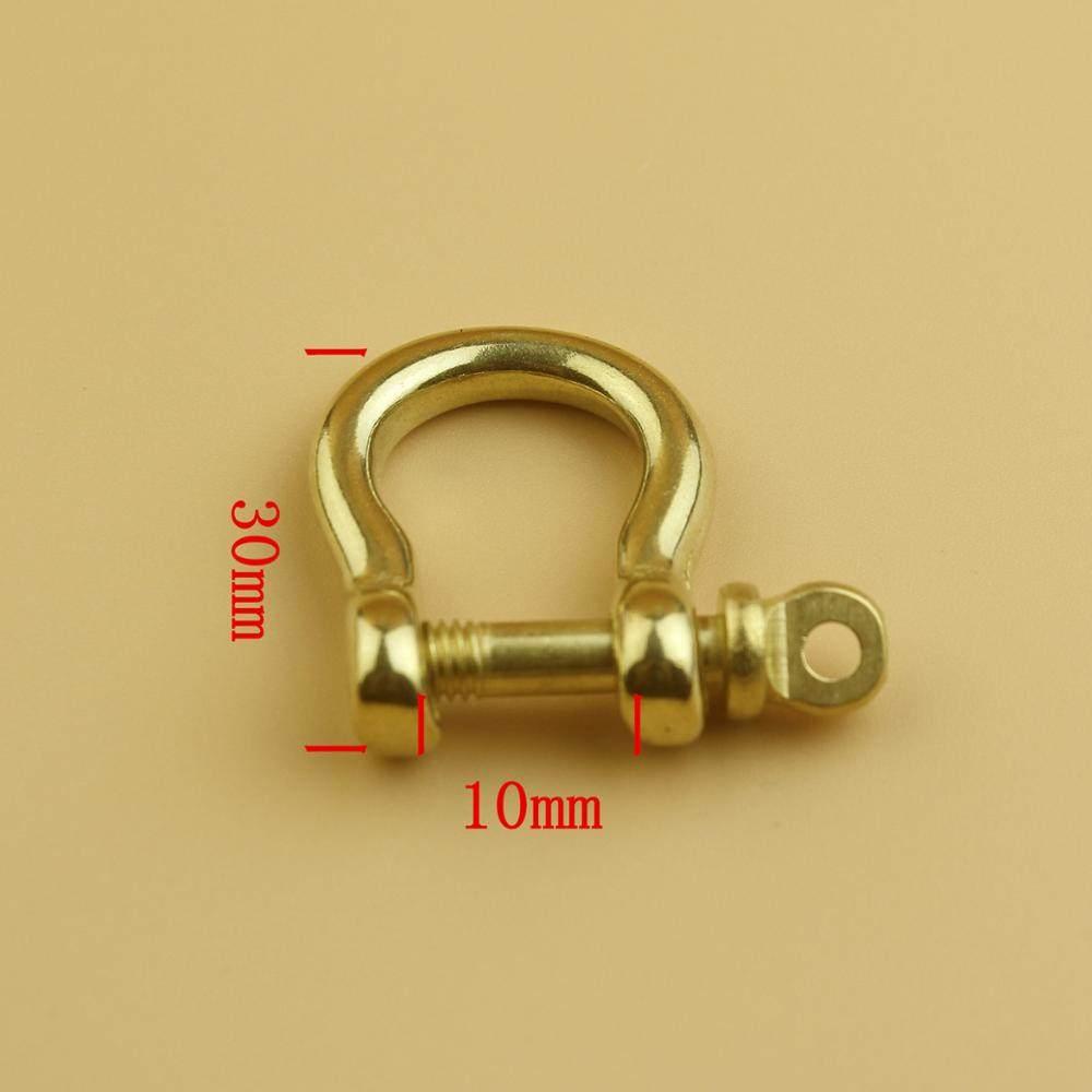 BDTHOOO 6pcs Brass Horseshoe Belt Buckle D Ring Hooks Metal Screw Clasps  For DIY Leather Purse 914ae66970b6
