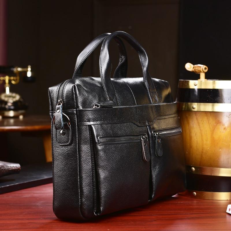 HTB1bV5gL4TpK1RjSZFMq6zG VXaZ New Luxury Cow Genuine Leather Business Men's Briefcase Male Briefcase Shoulder Bag Men's Messenger Bag Tote Computer Handbag