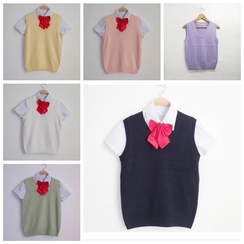 Trui Zonder Mouwen.Kawaii Japanse School Uniform Cosplay Vest Trui Zonder Mouwen