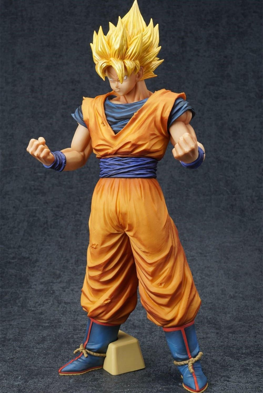 J Ghee Dragon Ball Z Banpresto ROS Resolution Of Soldiers Grandista Collection Figure Super Saiyan Son Goku Gokou  32cm