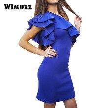 Wimuzz Frauen Schulter Rüschen Kleid Sexy Wear Backless Abendgesellschaft Elegante Sommer Vestidos Kleider