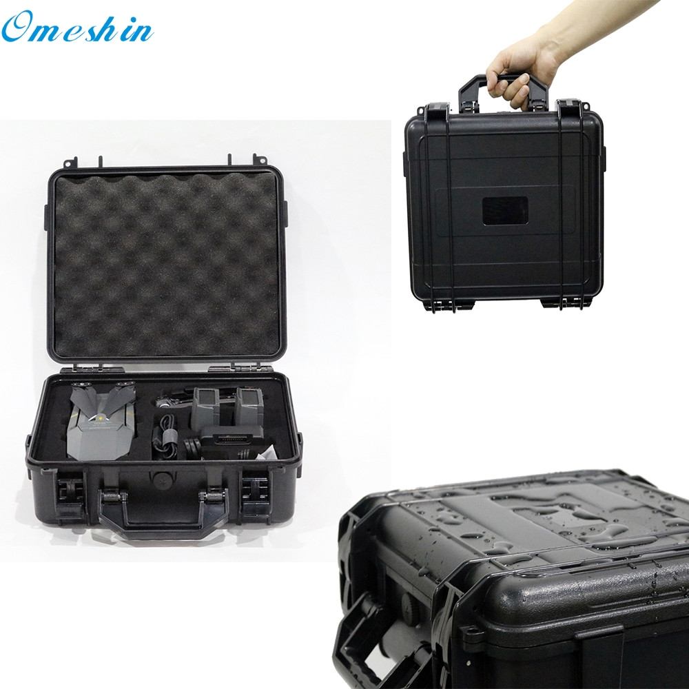 Carrying Case Waterproof Weatherproof Hard Carrying Case Military Spec for DJI Mavic Pro Drone 0308 Factory Price Drop Shipping  new black abs plastic gimbal hard case for mini drone dji osmo with custom foam waterproof box for headless drone