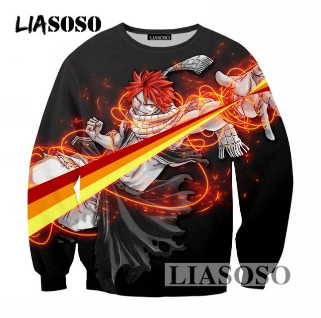 Fairy Tail 3D Print Harajuku Style Long Sleeve Sweatshirt