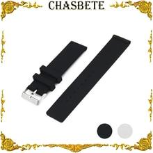 20mm 22mm 24mm Faixa De Relógio de Borracha de Silicone para Fossil Pulseira Homens mulheres Cinta de Pulso Pulseira Cinto de Laço Preto Branco + Ferramenta + Pin