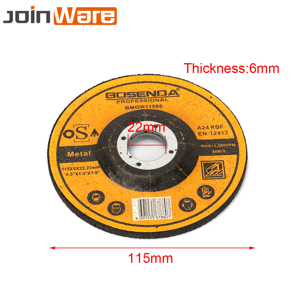 1Pc 115MM Resin Cutting Wheel Grinding Disc For Stainless Steel Iron Metal Angle Grinder Rotary Abrasive Tools 22MM Bore New