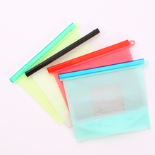 Reusable Silicone Food Fresh Bags Vacuum Seal Fruit Meat Milk Storage Ziplock Bag Refrigerator Kitchen Organizer Containers 1PC