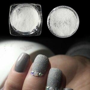Image 2 - 1 box Sugar Candy Coat Glitter Nail Pigment Dipping Powder Laser White Nail Art Decorations Dust Nail Glitter Flake CHTY0105 1
