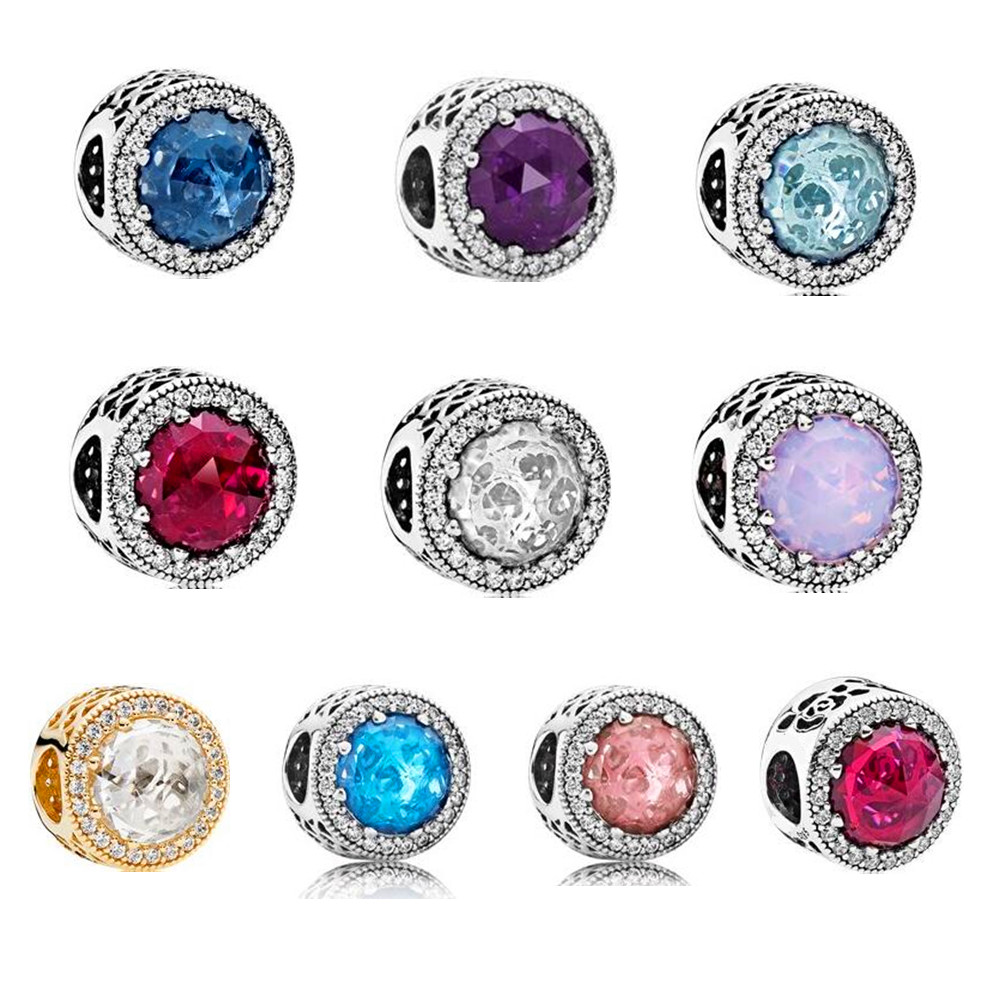 Charm Bead With 100% Authentic 925 Sterling Silver Radiant Beads Charms Fit Original Pandora Charm Bracelet Women Jewelry.