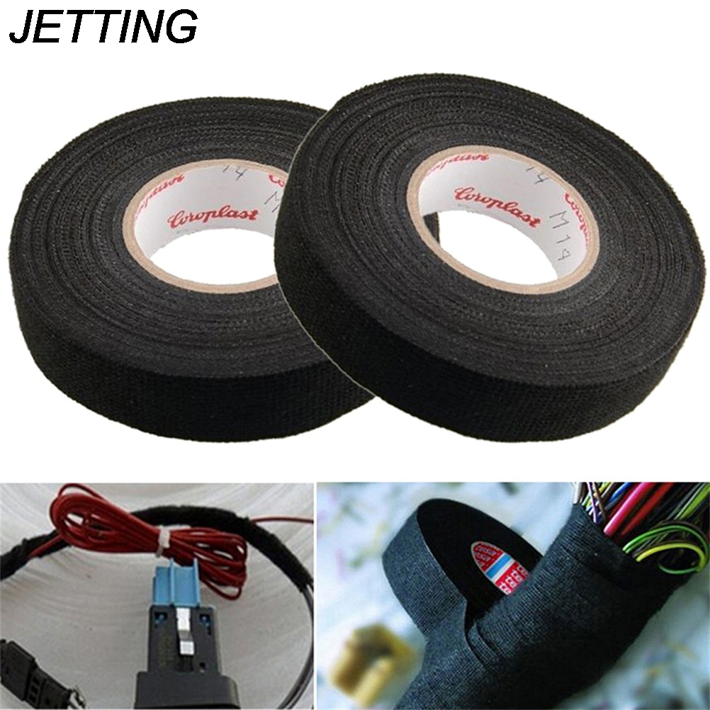 insulating fabric cloth tape 15m x 25mm adhesive tape wiring harness jetting 1roll 19mm x 15m wiring harness tape strong adhesive cloth fabric tape for looms cars