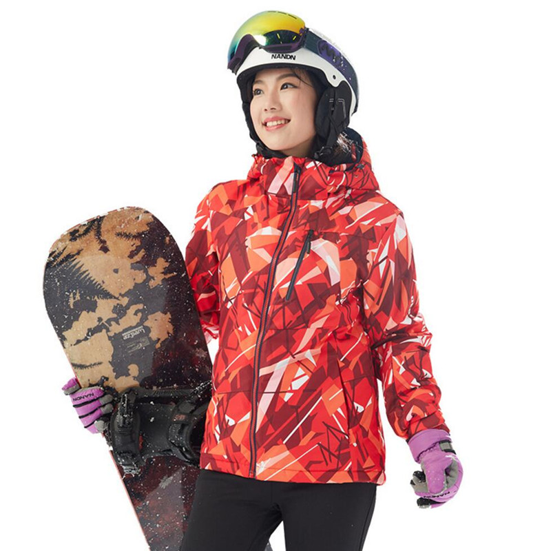 Free Shipping-New Women Outdoor Sport Winter Warm Thick Waterproof Windproof Camouflage Mountaining Hiking Skiing Jacket 7012