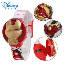 aba023977545 100% genuino disney reloj iron man relojes niños de dibujos animados de moda  reloj de silicona marca de relojes de moda
