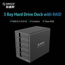 ORICO 9558RU3 5bay 3.5 USB3.0 SATA с RAID Функция HDD Алюминий 5bay Корпус HDD док-станция 5 лавровых hdd случае -черный