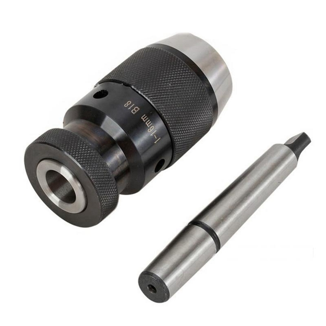 1mm-16mm B18 Keyless Drill Chuck Self Tighten W// Taper 2MT MT2 Shank Lathe Mill