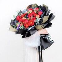 60x60 см золотые цветные матовые оберточная бумага для цветов Упаковка букета материалы флорист поставки Свадебный декор для вечеринки DIY под...