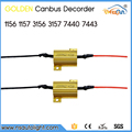 Universal fit 2pcs canbus decoder golden fuse led warning canceller for 1156 1157 3156 3157 T20 7440 7443 load canbus resistor