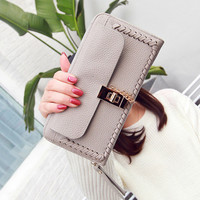 2017 Female Retro Worship Long Lady Wallets Large Capacity Clutch Bag Women S Lock Bag