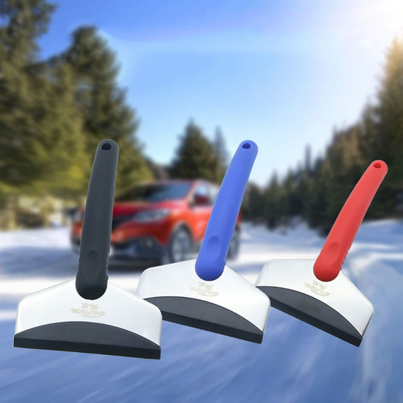 Stainless Steel Ice Scraper Car Windshield Ice Scraper Snow Removal Brush Car Windscreen Clean Tools