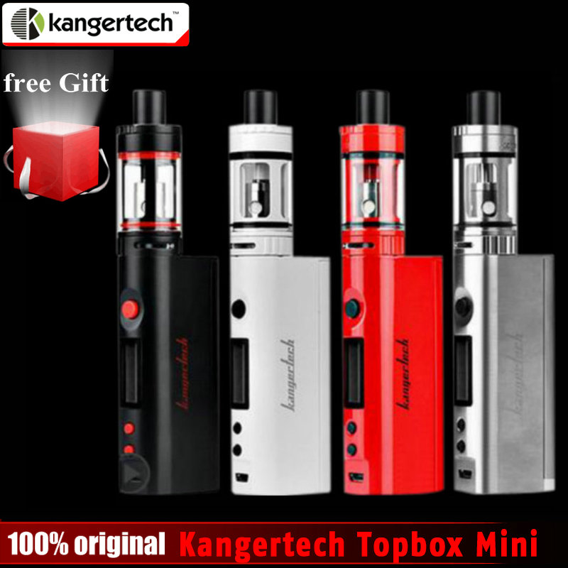 Original kangertech topbox mini subox mini kit Kang 75 W subox mini pro caja de control de temperatura mod cigarrillo electrónico vape