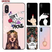 Black Silicon Phone Case Dont touch my Phone bitch for Xiaomi 9 8 A1 5X A2 6X Redmi Note 7 S2 4 4X 5 5A 6 6A Pro Lite Cover for xiaomi 6 8 a1 a2 redmi note s2 4 4x 5 5a 6 6a pro lite black silicon phone case eiffel tower london city style