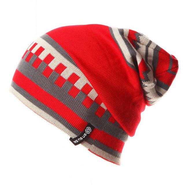 Unisex di Marca Cappelli Uomo Donna Caldo Inverno di Lavoro A Maglia  Pattinaggio Cappello Berretto Dolcevita 97c696ac889a