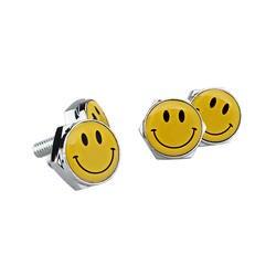 Смайлики стайлинга автомобилей болты для улыбка логотип для Ford Fiesta Honda Accord BMW E46 Benz A3 Smart Volkswagen Golf 5 Nissan Leaf Audi A3