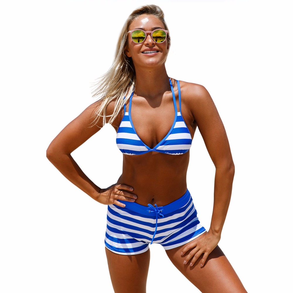 Summer push up new bikini sexy swimsuit bathing suit women high waist swiming suits Halter Top swimwear