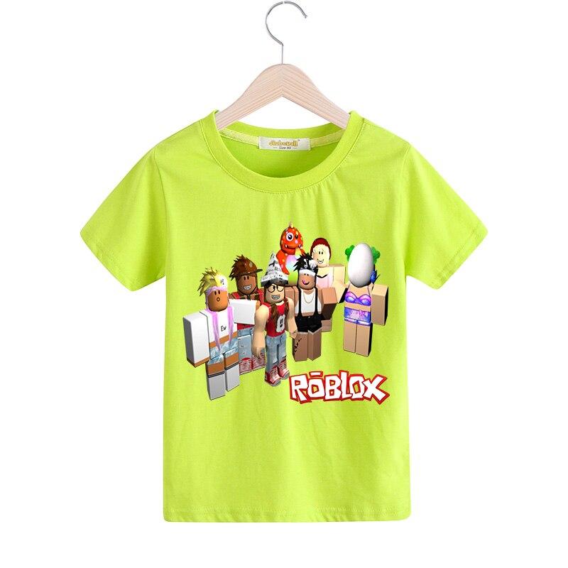 Roblox Names That Aren T Taken: Children Summer Short Cartoon Roblox Print Tee Tops Boy T