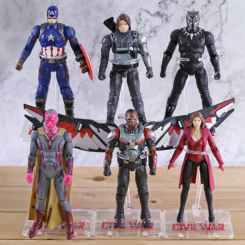 Avengers Endgame Iron Man Captain America Ant Man Hulk Spiderman Thanos Black Widow Panther Scarlet Witch PVC Action Figure Toy