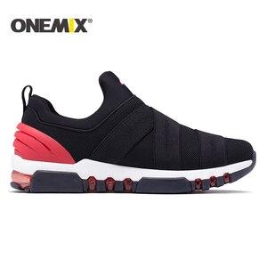 Image 2 - Onemix chaussures de course pour homme, baskets de haute qualité respirantes, chaussures dextérieur, trekking, pour la course, nouvelle collection 2018