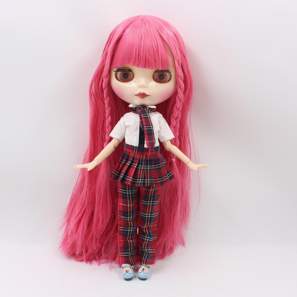 Neo Blythe Doll Scottish Pattern Dress