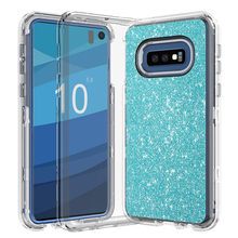 купить IQD Cover for Samsung Galaxy S10e Glitter Case Heavy Duty Hybrid 3-Layer Full-Body Protect Soft TPU Hard Plastic Back S10E 5.8 по цене 263.33 рублей