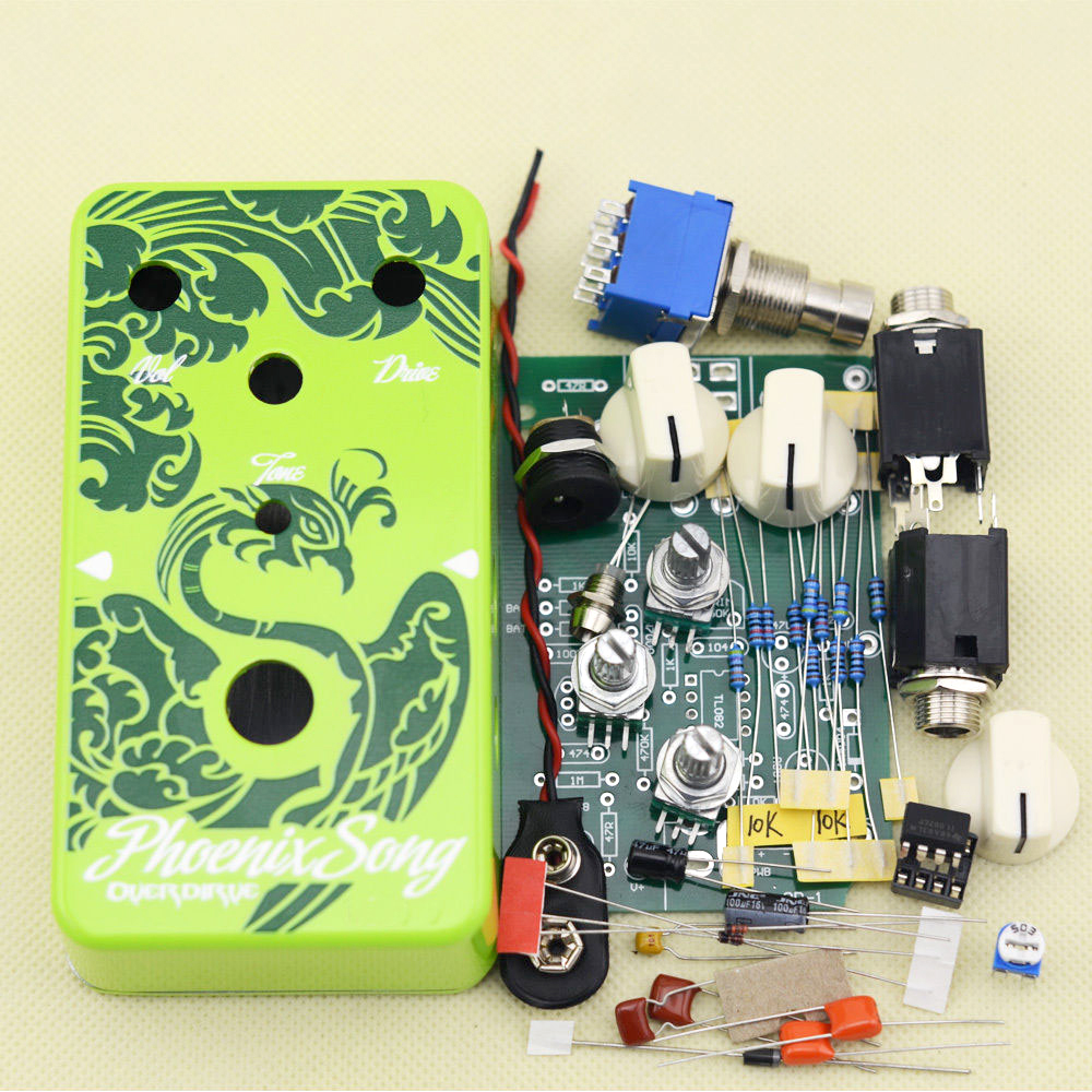 DIY Overdrive Guitar Effect Pedal All Kits True Bypass With 1590B  Electric Guitar Stomp Box Pedals OD1 Kits