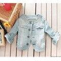 Nuevo 2017 Señoras Denim Jeans Chaquetas Outwear Coat Clásicos Abrigos Chaquetas Mujer Jeans Moda Clava las Chaquetas Femeninas
