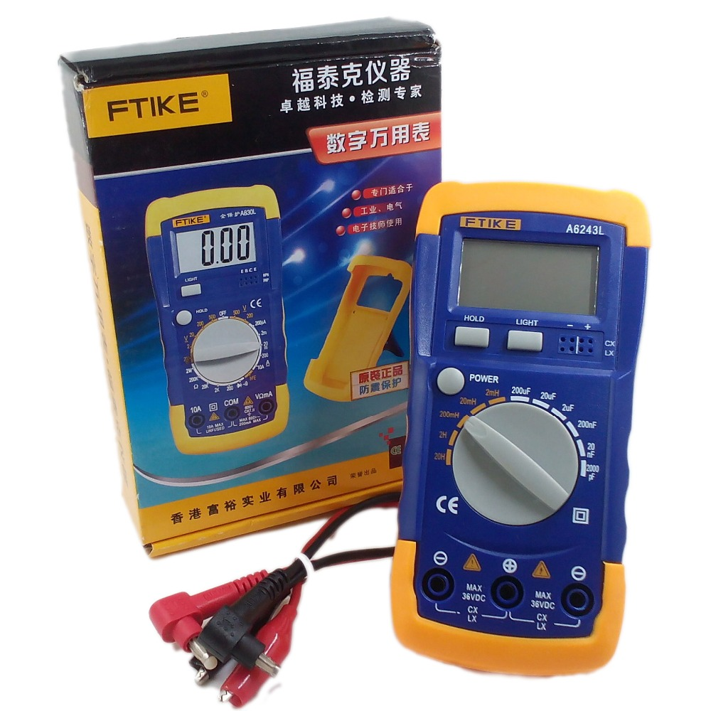 New A6243L 3 1/2 Capacitor Inductor LC Meter Tester 2nF-200uF & 2mH-20H Compatible Digital Multimeter