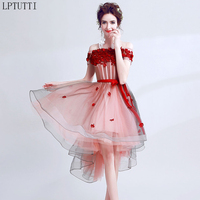 LPTUTTI Appliques Lace New Sexy Woman Social Festive Elegant Formal Prom Party Gowns Fancy Short Luxury Cocktail Dresses