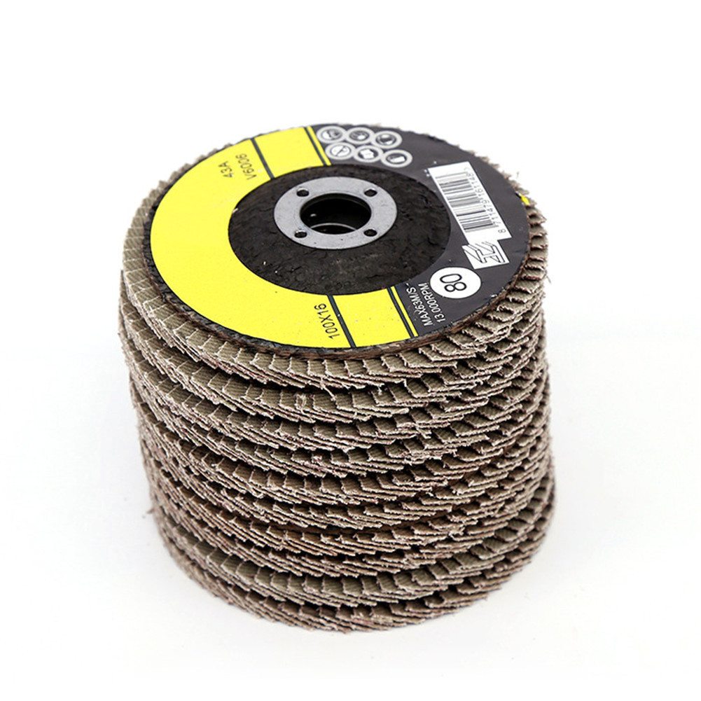 1pcs Polishing Grinding Wheel 100x16mm Quick Change Sanding Flap Disc Grinding Wheel For Grit Angle Grinder