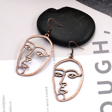 07757d53f Dangle earrings Face Earrings Picasso Face Earrings Bronze Charm Ear  jewelry Women Jewelry Wholesale Gifts for