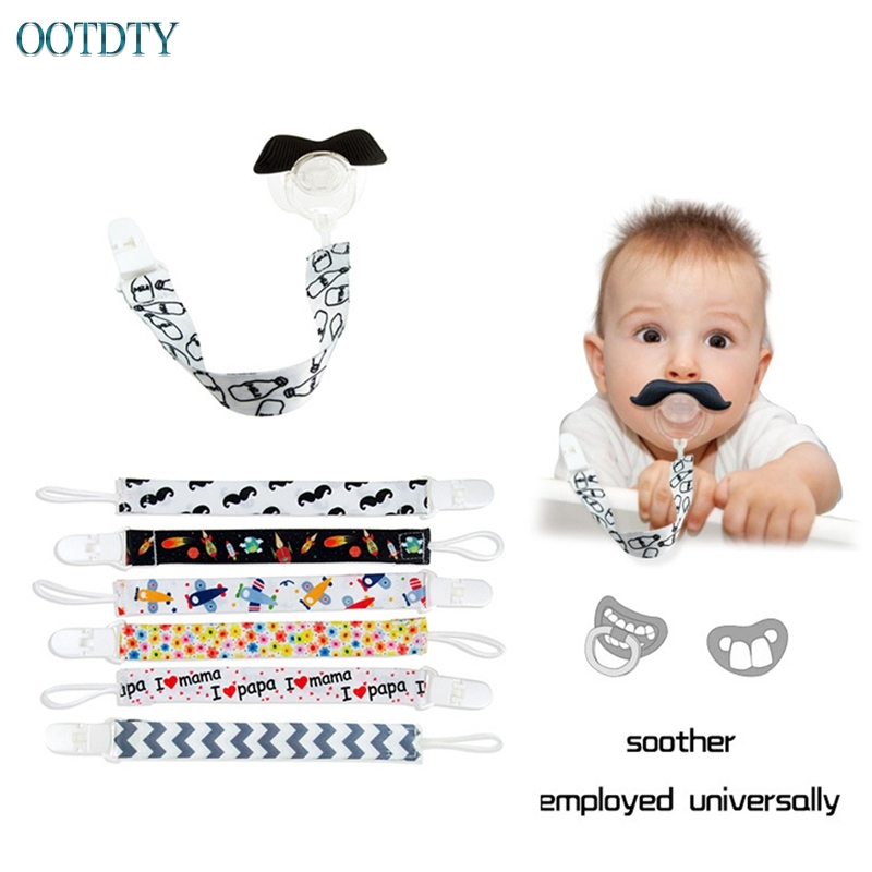 Fashion Baby Pacifier Clip Dummy Holder Soother Chain Drop-resistant Buckle Strap #330