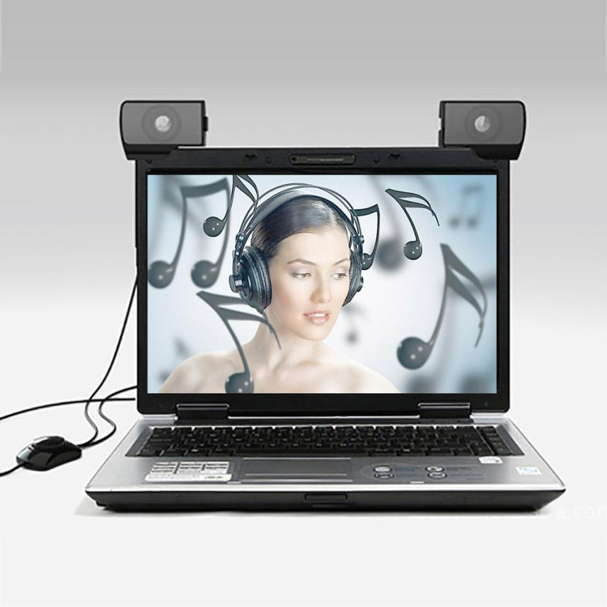 1 Para Niedlichen Mini Portable 3,5mm Interface Audio Sounder Lautsprecher Für Computer Laptop