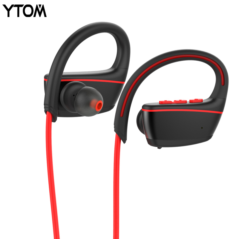 YTOM IPX7 Waterproof Wireless Headphones Swimming Sport Bluetooth headset bluetooth earphone with mic for phone iPhone xiaomi
