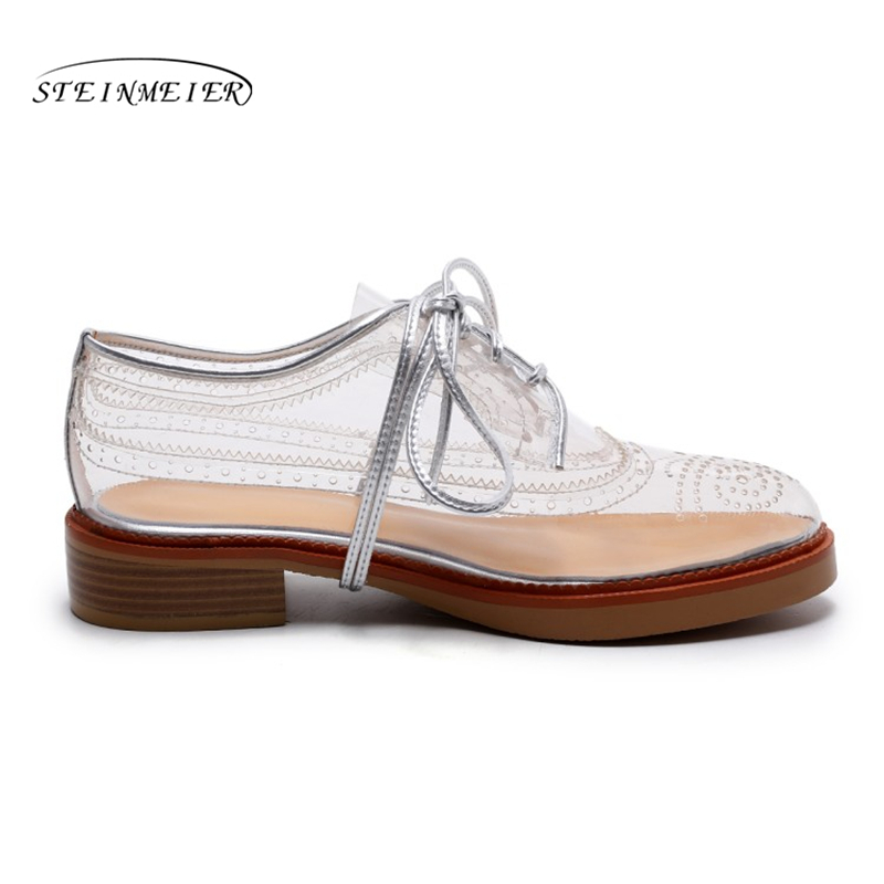Oxford Zapatillas Para Planos Casuales Deporte Transparente Mujer Calzado De Transparent Zapatos Vintage 6wq7WAxOtg