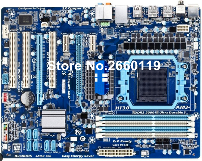 ФОТО Desktop motherboard for GIGABYTE GA-870-UD3P system mainboard fully tested with cheap shipping