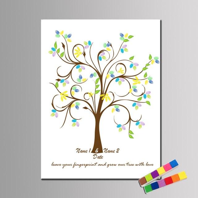 Personalisieren Hochzeitsgeschenk Fingerabdruck Gastebuch Hochzeit