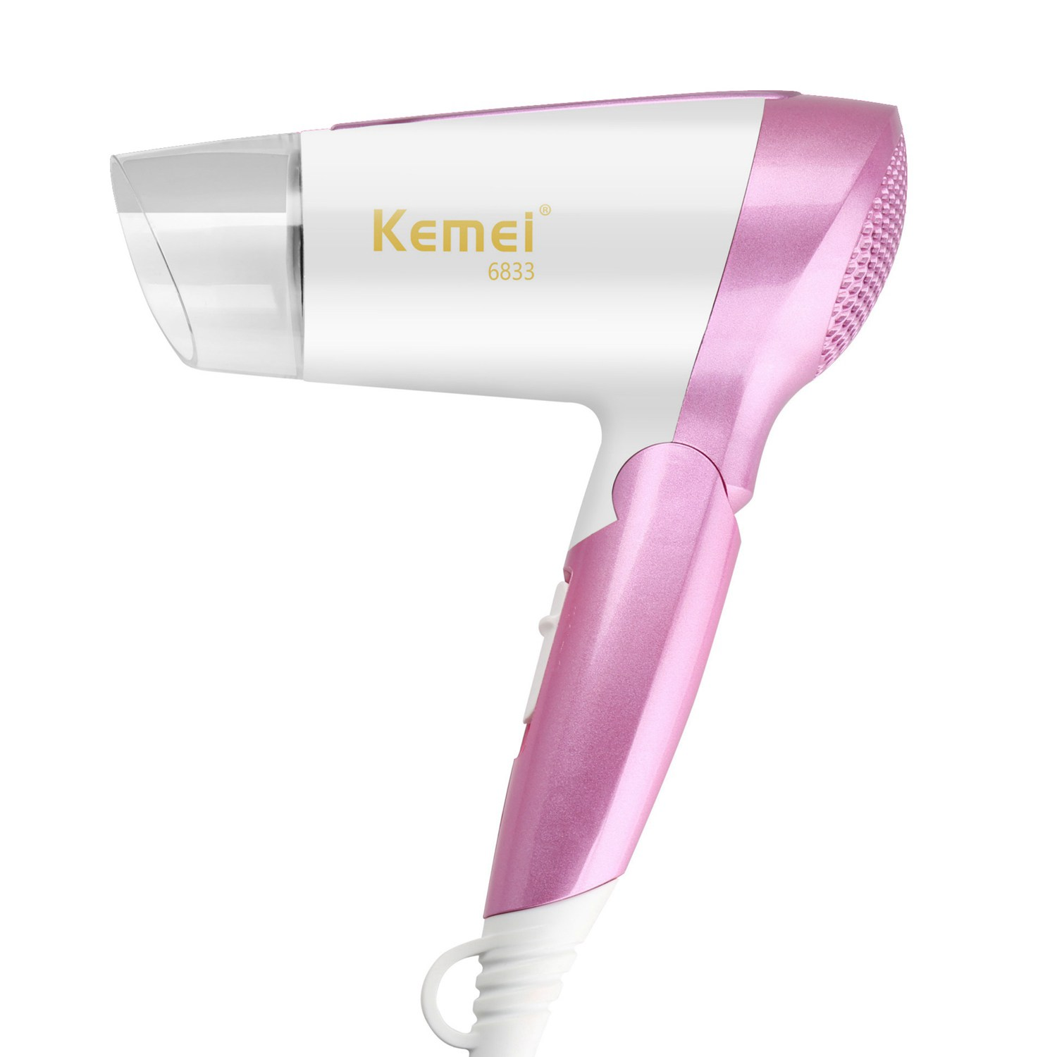 KM-6833 Portable mini hair dryer 1600W ultra-quiet anion Personal care appliances hot and cold dual-function switch hair dryer km 8856 brand high power hair dryer 2000w professional stylist hair dryer eu plug hot and cold dual function switch hair dryer