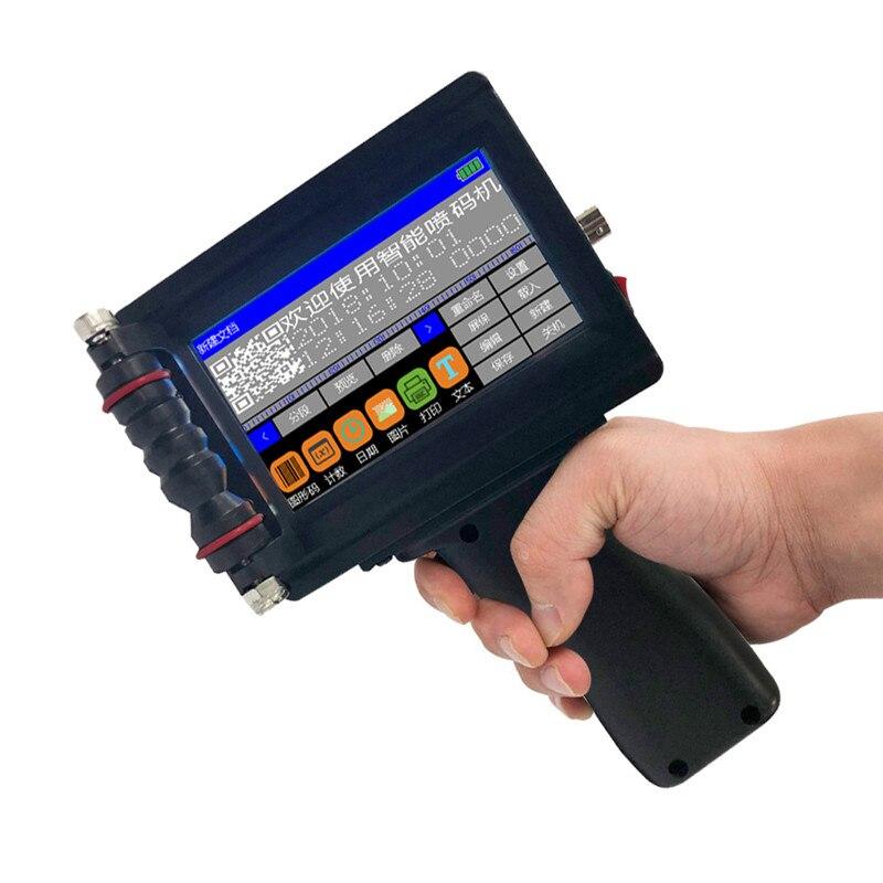 Handheld Portátil Mini Impressora Jato de Tinta Rótulo Máquina de Impressão De Tela Sensível Ao Toque de 600 DPI USB Inteligente QR CODE Impressora Jato de Tinta Rótulo